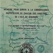 Mémoire pour servir à la connaissance particulière de chacun des habitants de l'île Bourbon